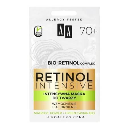 AA Retinol 70+ Maska do twarzy wzmocnienie+ujędrnienie 2x5ml