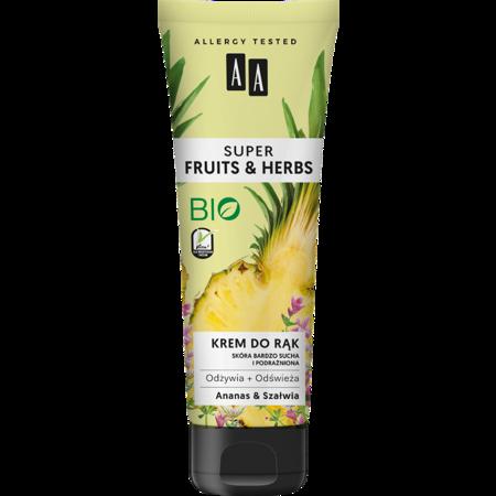 AA SUPER FRUITS&HERBS krem do rąk ananas&szałwia