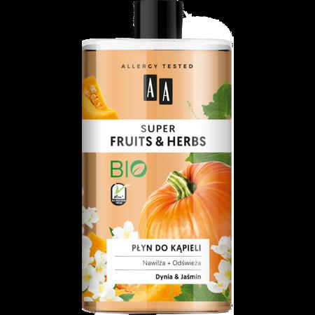 AA SUPER FRUITS&HERBS płyn do kąpieli dynia&jaśmin