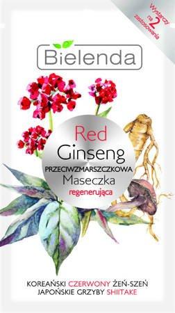 Bielenda   RED GINSENG Regenerująca maseczka przeciwzmarszczkowa 8g